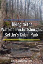 Waterfall in Settler's Cabin Park in Pittsburgh, Pennsylvania