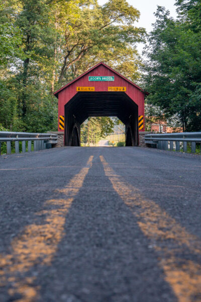 Front view of Book's Covered Bridge in Perry County