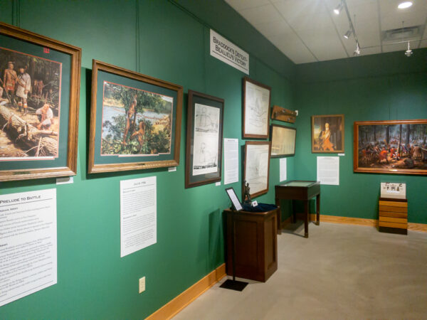 Inside the Braddock's Battlefield History Center in North Braddock PA