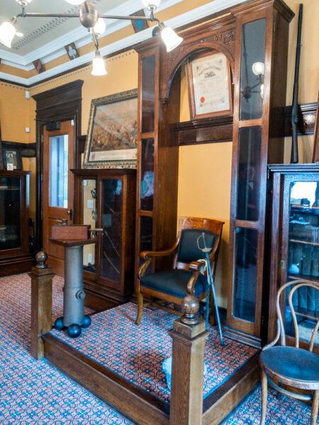 Displays inside the Civil War Room at the Carnegie Carnegie in PA