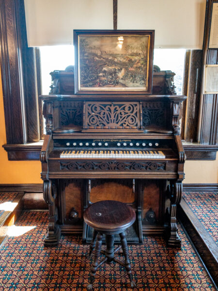 Organ at the Grand Army of the Republic Room in Carnegie Pennsylvania