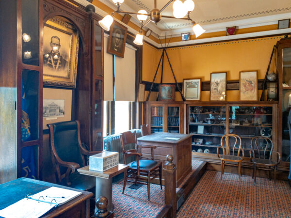 Civil War Room at the Carnegie Free Library in Carnegie Pennsylvania