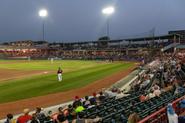 Field during an Erie Seawolves game in Erie PA