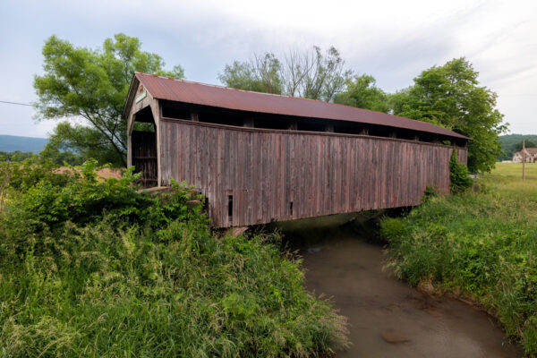 Side view of Kochenderfer Covered Bridge in Perry County PA