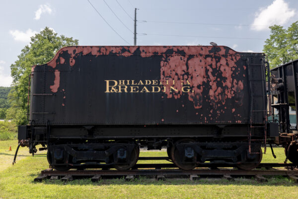 Antique hopper car from the Reading Railroad at the Reading Railroad Heritage Museum in Berks County PA