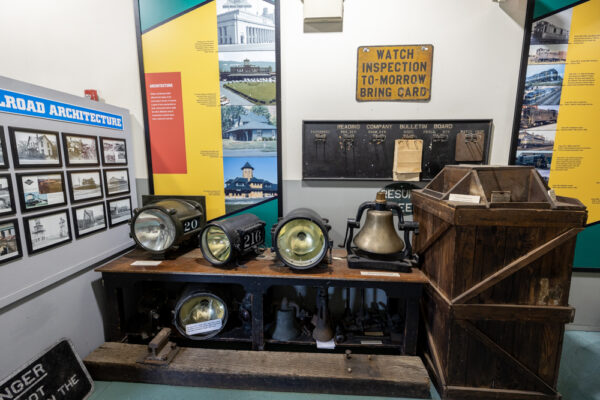 Inside the Reading Railroad Heritage Museum in Reading PA