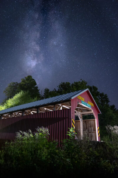 Milky Way in Perry County PA over Saville Covered Bridge