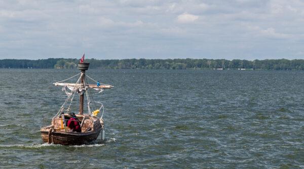 Pirate Boat in Presque Isle Bay in Erie PA