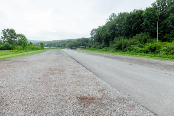 Parking for the Sunken Garden Trailhead in Butler County PA