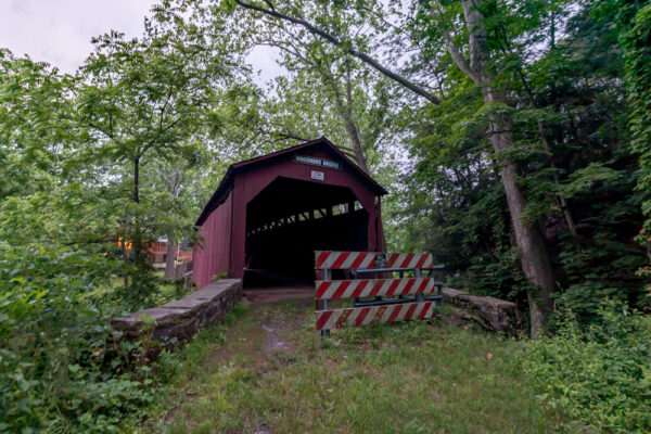 Front view of Waggoners Covered Bridge in Perry County