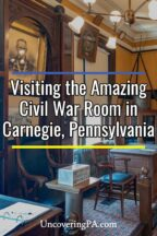 Civil War Room in Carnegie Pennsylvania