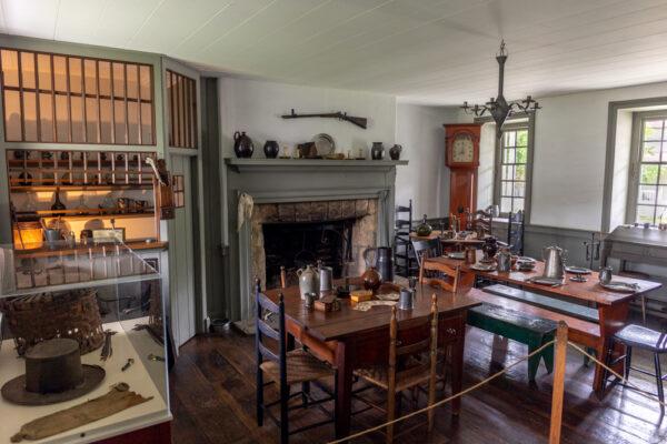 The historic tavern inside the Compass Inn near Ligonier PA