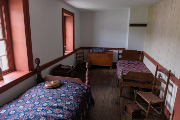 Upstairs bedrooms at the Compass Inn Museum in Westmoreland County PA