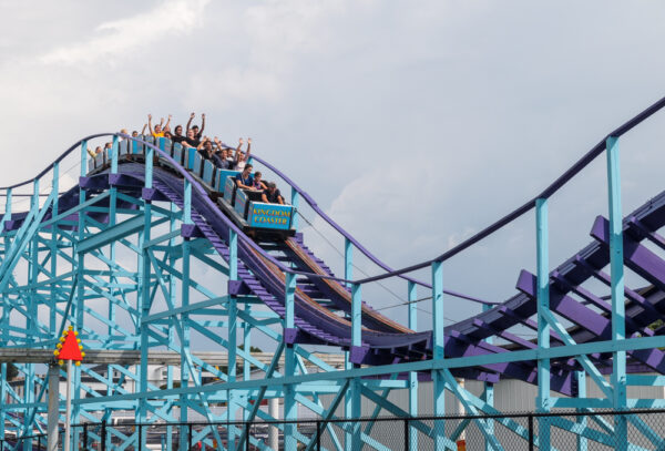 One of the rollercoasters at Dutch Wonderland in Lancaster County