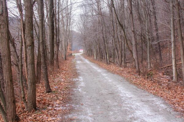 A snow covered portion of the Ghost Town Trail in Indiana County PA