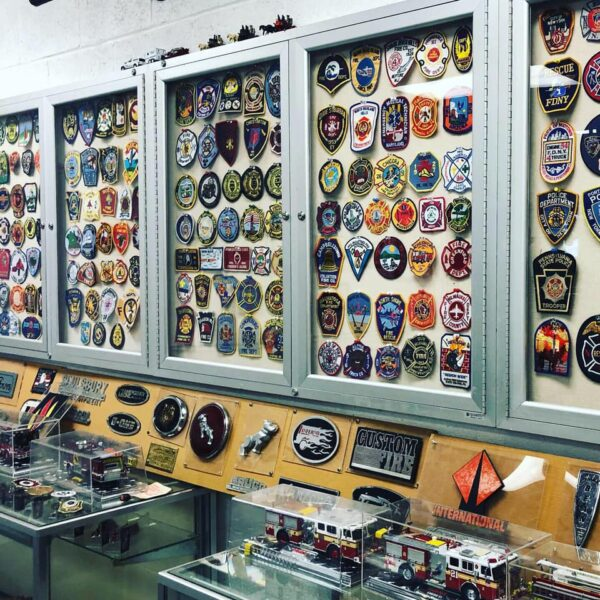 One of the many displays inside of the Greensburg Volunteer Fire Department Museum.