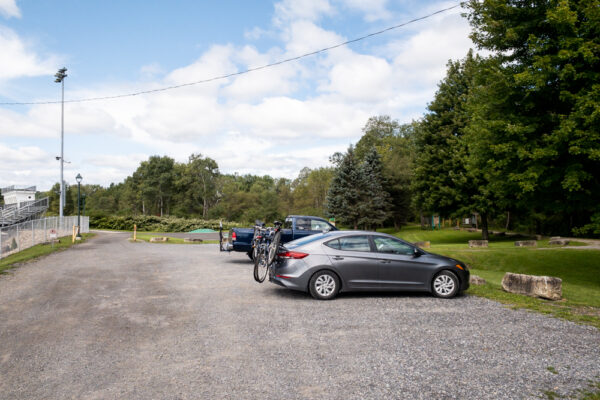 Clarion-Little Toby Creek Trail parking area in Brockway Pennsylvania