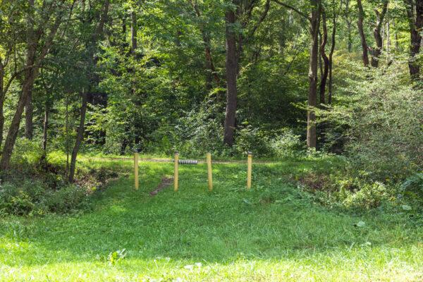 Trailhead for the Little Toby Creek Trail Trail in Jefferson County PA