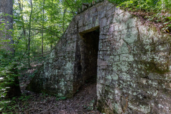 Abandoned building at the German POW Camp in Buchanan State Forest
