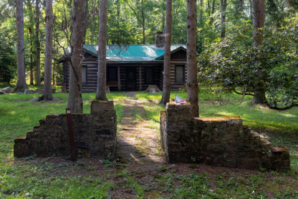 Officers' quarters at the Abandoned POW Camp in Buchanan State Forest in Pennsylvania