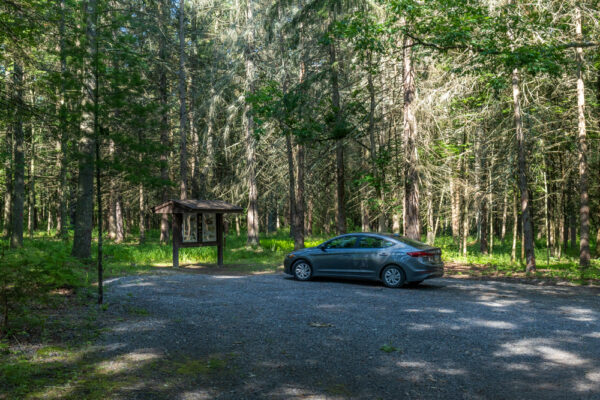The parking area for the Abandoned POW Camp in Fulton County PA