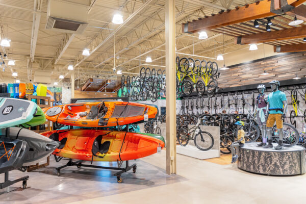 Kayaks and bicycles inside Public Lands near Pittsburgh PA