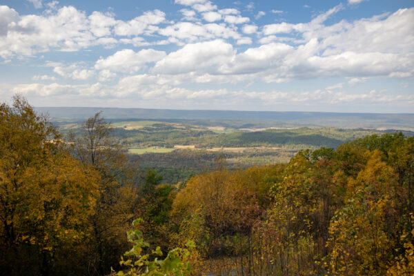 View from the Stone Mountain Hawk Watch in Rothrock State Forest of PA