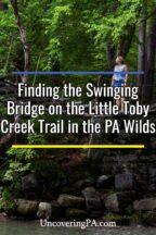 Swinging Bridge on the Little Toby Creek Trail in Pennsylvania
