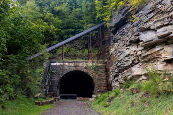 East Brady Tunnel entrance along the Armstrong Trail near East Brady PA