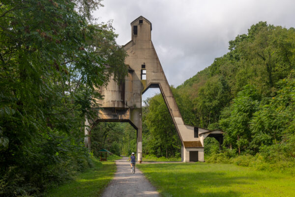 Redbank Coaling tower on the Armstrong Trail in Pennsylvania