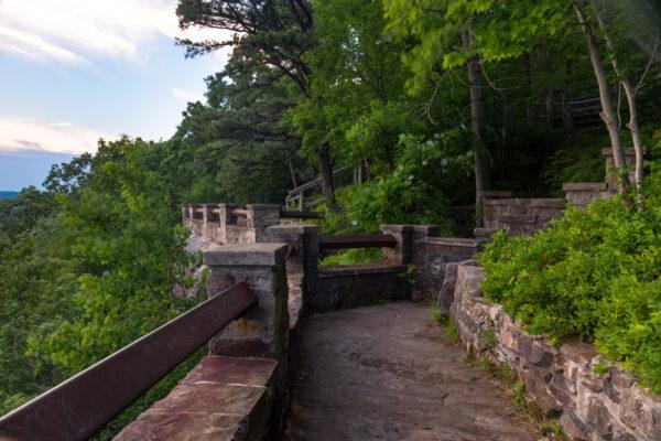Stone Overlooks at Rimrock Overlook near Warren Pennsylvania