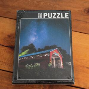 Saville Covered Bridge Under the Milky Way Puzzle